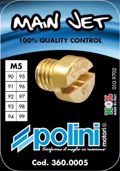 Polini 5mm Jet Assortment 90-99 for Dellorto PHBG and SHA Carburetors