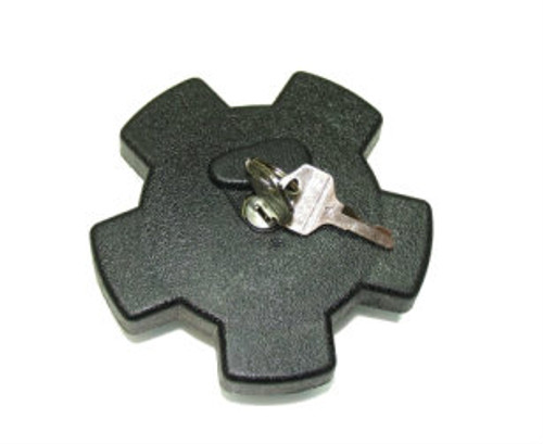 30mm Black Star Locking Gas Cap, For Step Thru Mopeds