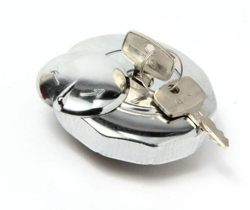 Locking Chrome Top Tank Gas cap 38mm for Puch,, Tomos, and others.