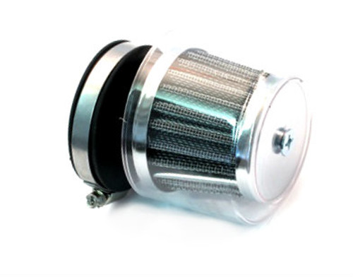 60mm Clear Cover Air Filter, fits SHA Style Carburetors