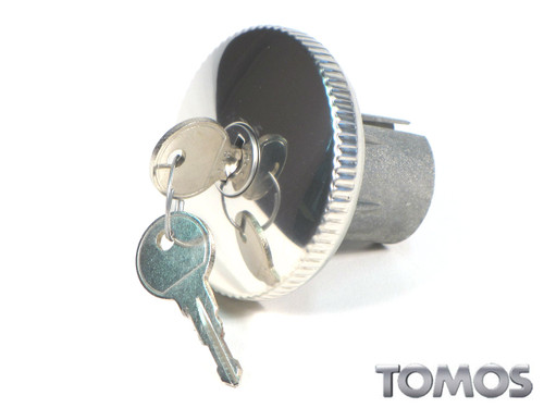 Tomos OEM Chrome Gas Cap for Targa LX and other Top Tank Mopeds 223840