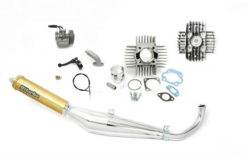 Tomos  A55 Complete Performance Package with Carburetor, Exhaust, 70cc Cylinder Kit