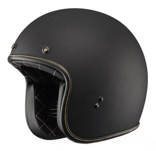 Fly Racing Retro  .38 Helmet, Matte Black