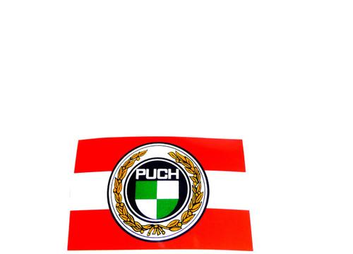 Puch Logo inside Austrian flag Decal