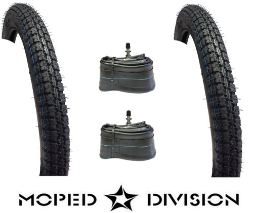 kenda k260 tire and tube kit  2.00 / 2.25 - 16 for Tomos *front and rear*