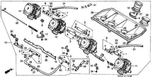 Genuine Honda CBR600F 1987 Tube Joint Set B Part 5