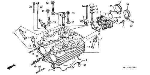 Genuine Honda XR250R 1985 Carburetor Insulator Part 7