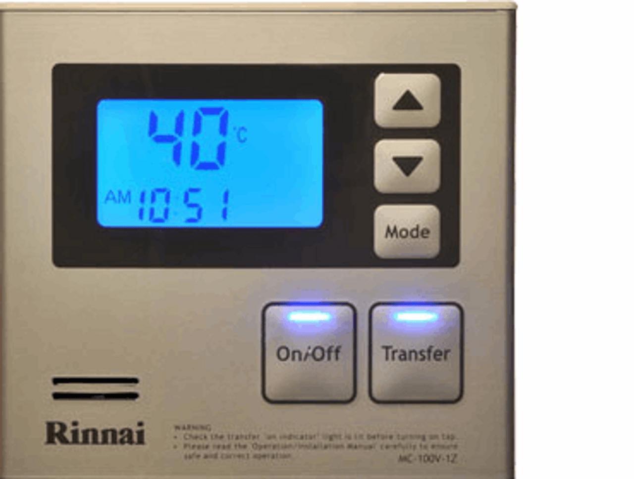 Rinnai Infinity Kitchen Deluxe Controller
