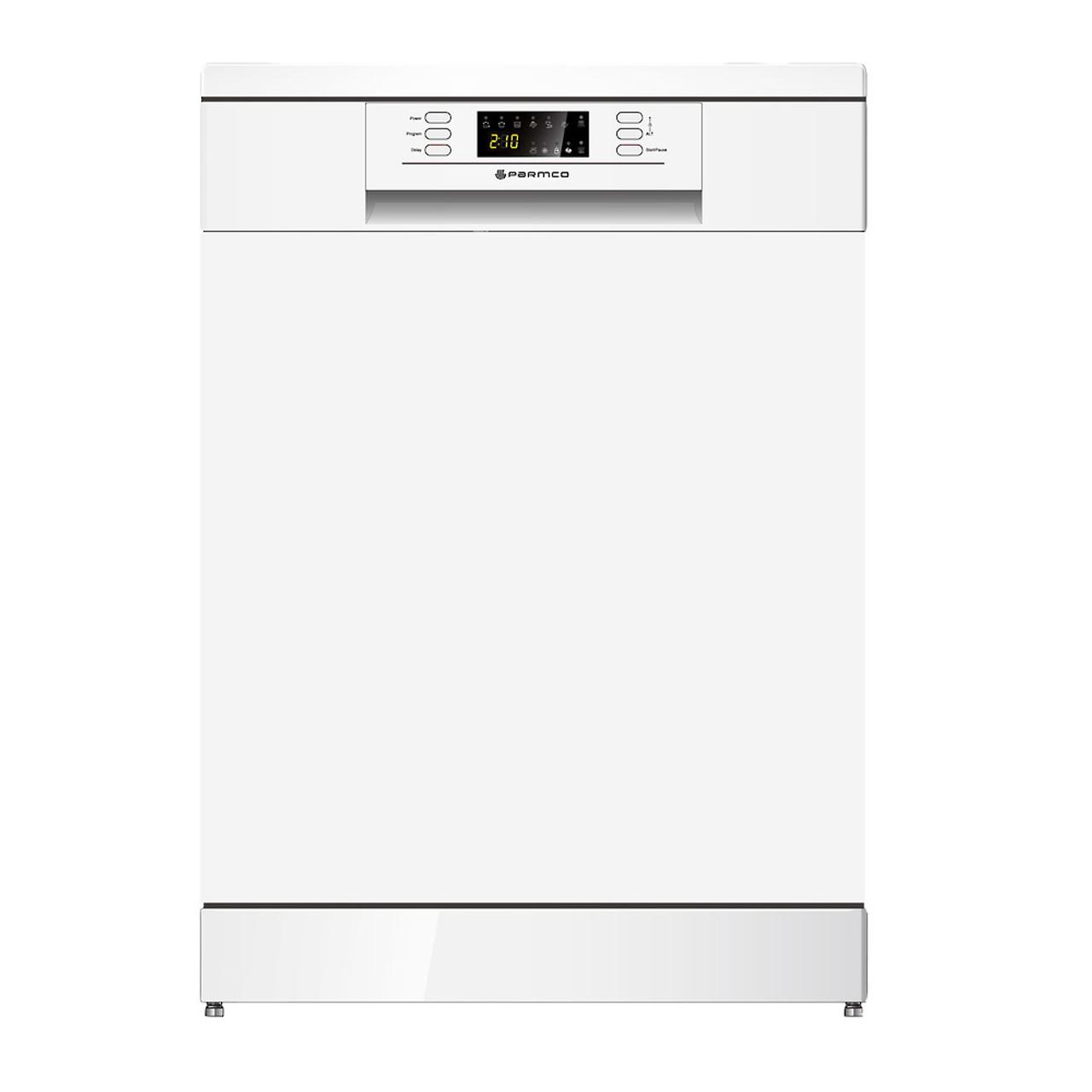 PARMCO 600mm Freestanding Dishwasher, LED Display, White