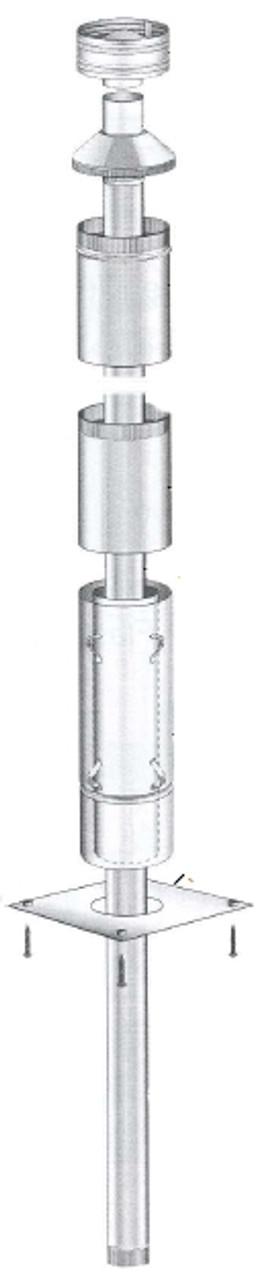Masport 150mm x 4.2m Freestanding Flue Kit