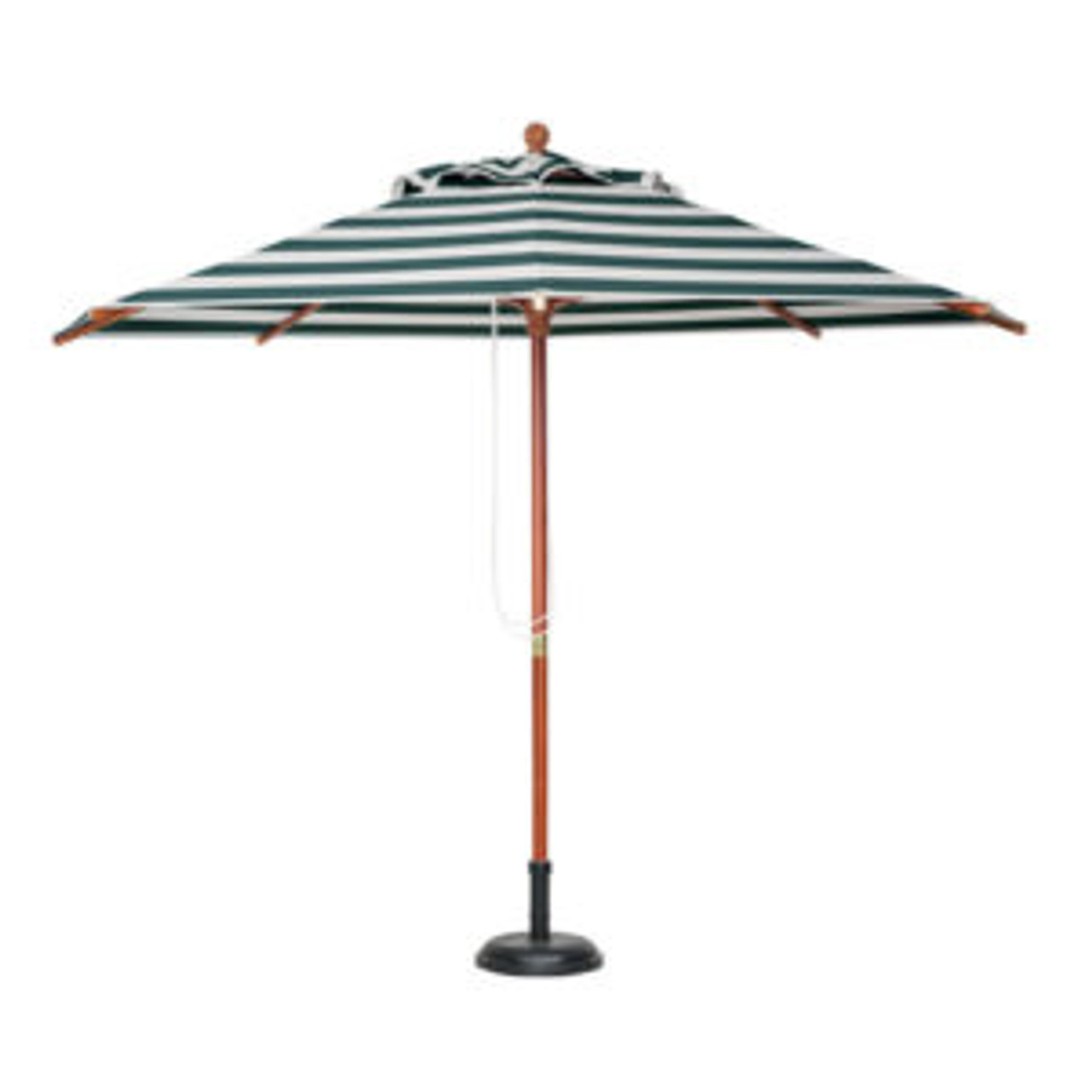 2M Market Umbrella - Wooden Frame with Striped Planosol Shade