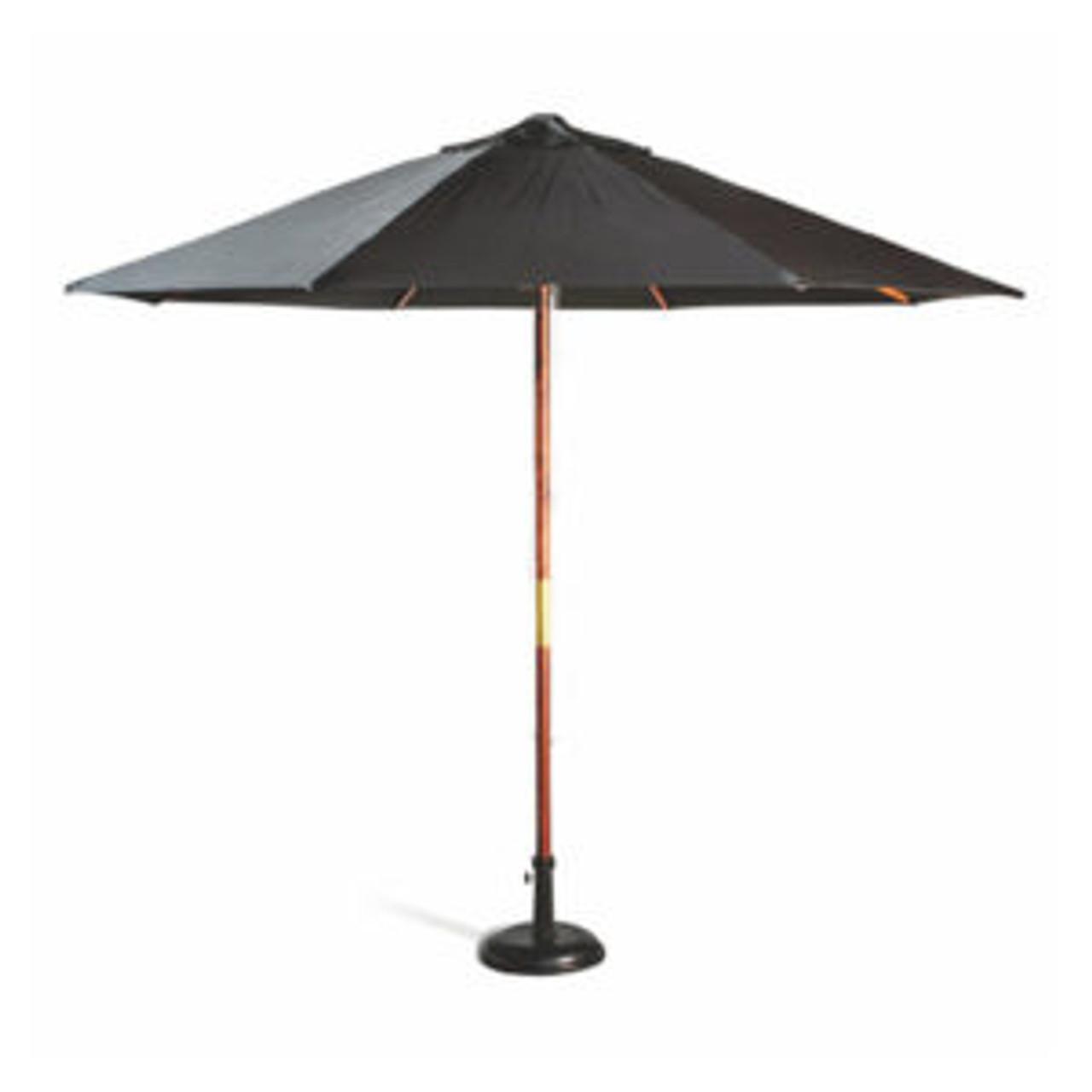 2.5m Market Umbrella - Wooden Frame with  Olefin Shade
