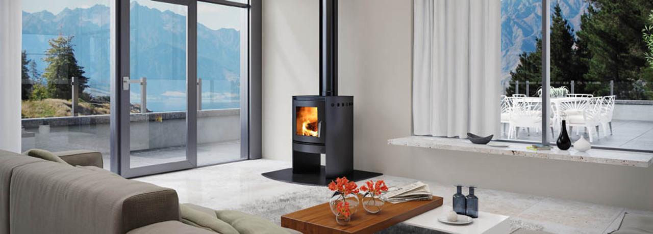Bosca Spirit 550 Freestanding Wood Burner (Black Sides)