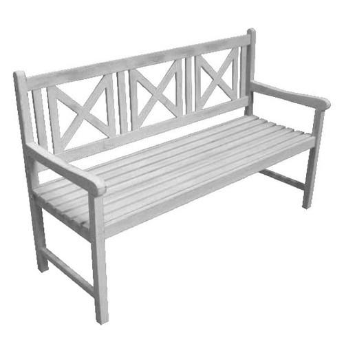 Acacia Antique Grey Garden Bench