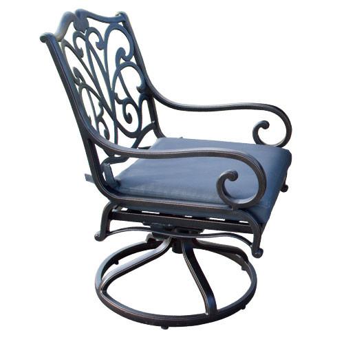 Ketawa Painted Aluminium Swivel Outdoor Chair