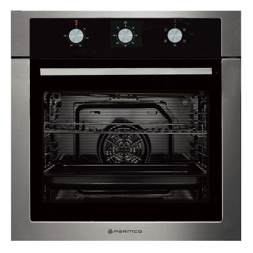 PARMCO  600mm 76Litre Oven, 5 Function, Stainless Steel