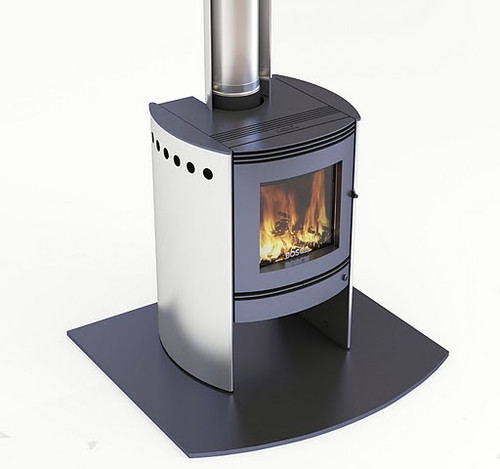 Bosca Spirit 550 Freestanding Wood Burner (Black Sides)
