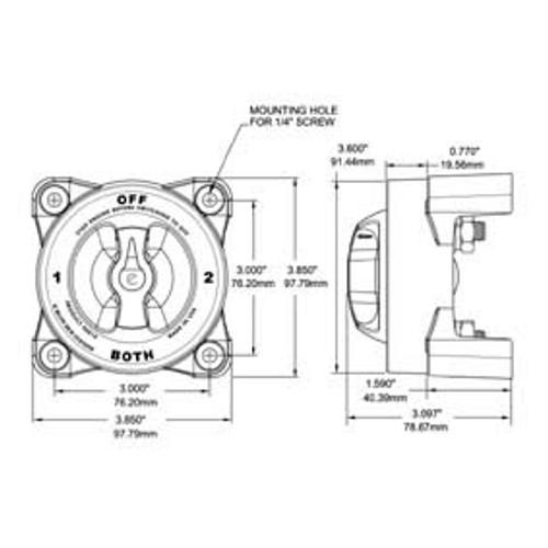 blue sea battery switch 9001e 4 way 350a