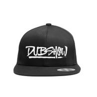 DUB Show Script Snapback Cap - White