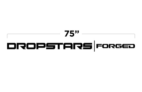 "75"" Dropstars Forged Large Door Decal"