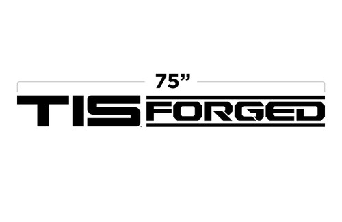"""75"""" TIS Forged Large Door Decal"""