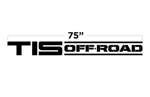"""75"""" TIS Off Road Large Door Decal"""