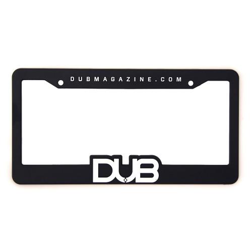 DUB Black Plastic License Plate Frame