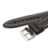 Black Hirsch Liberty Vintage Leather Watch Strap - Image 2