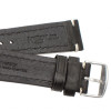 Black Hirsch Liberty Vintage Leather Watch Strap - Image 4