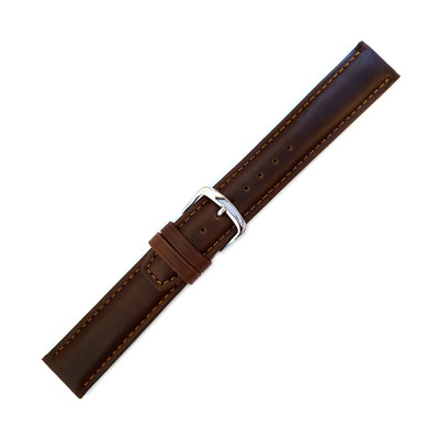 Hadley Roma Brown Oil Tan Leather Watch Strap