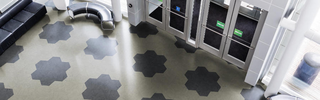 Pentagonal Rubber Flooring from Tarkett-Johnsonite