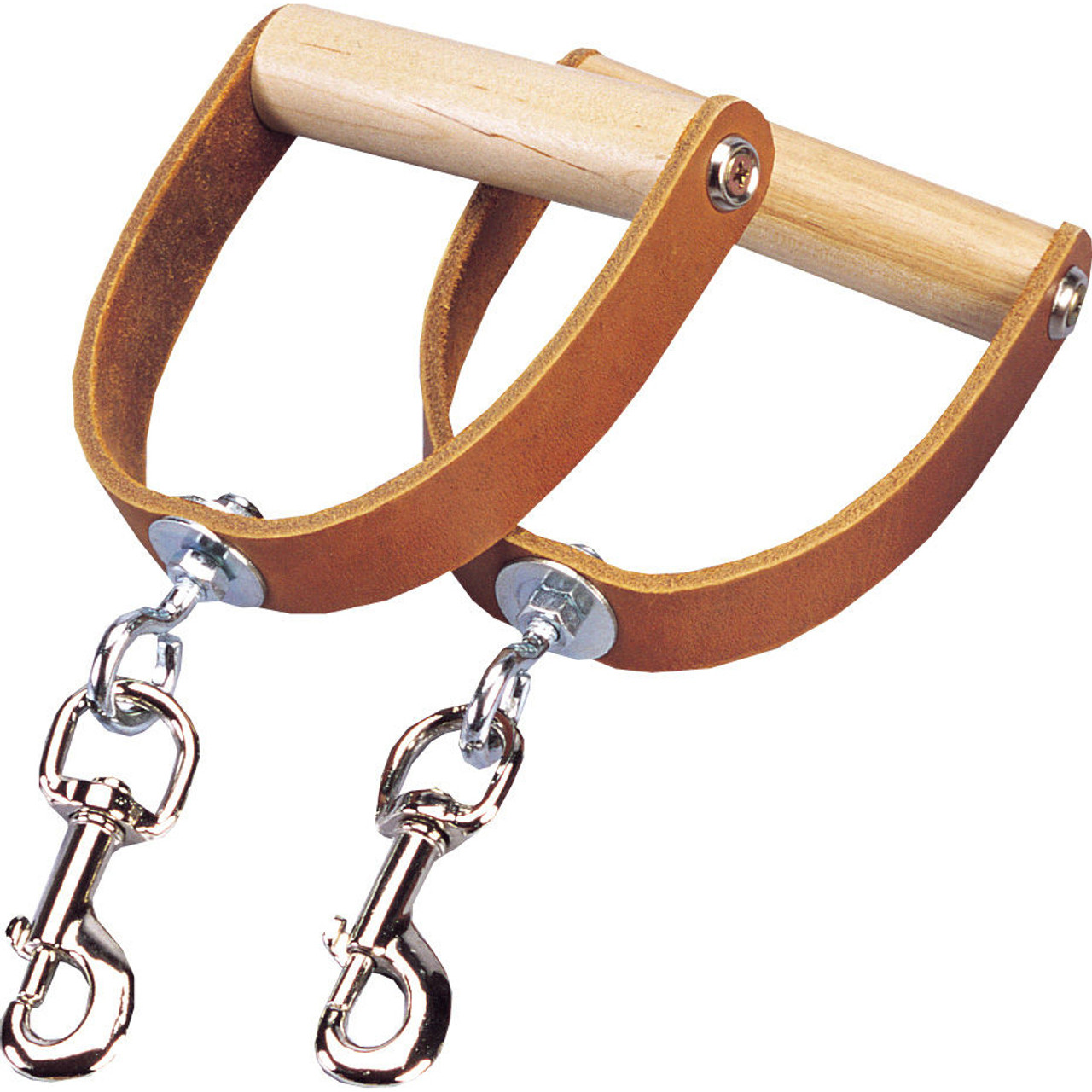 Premium Leather Swivel Handles (Pair)