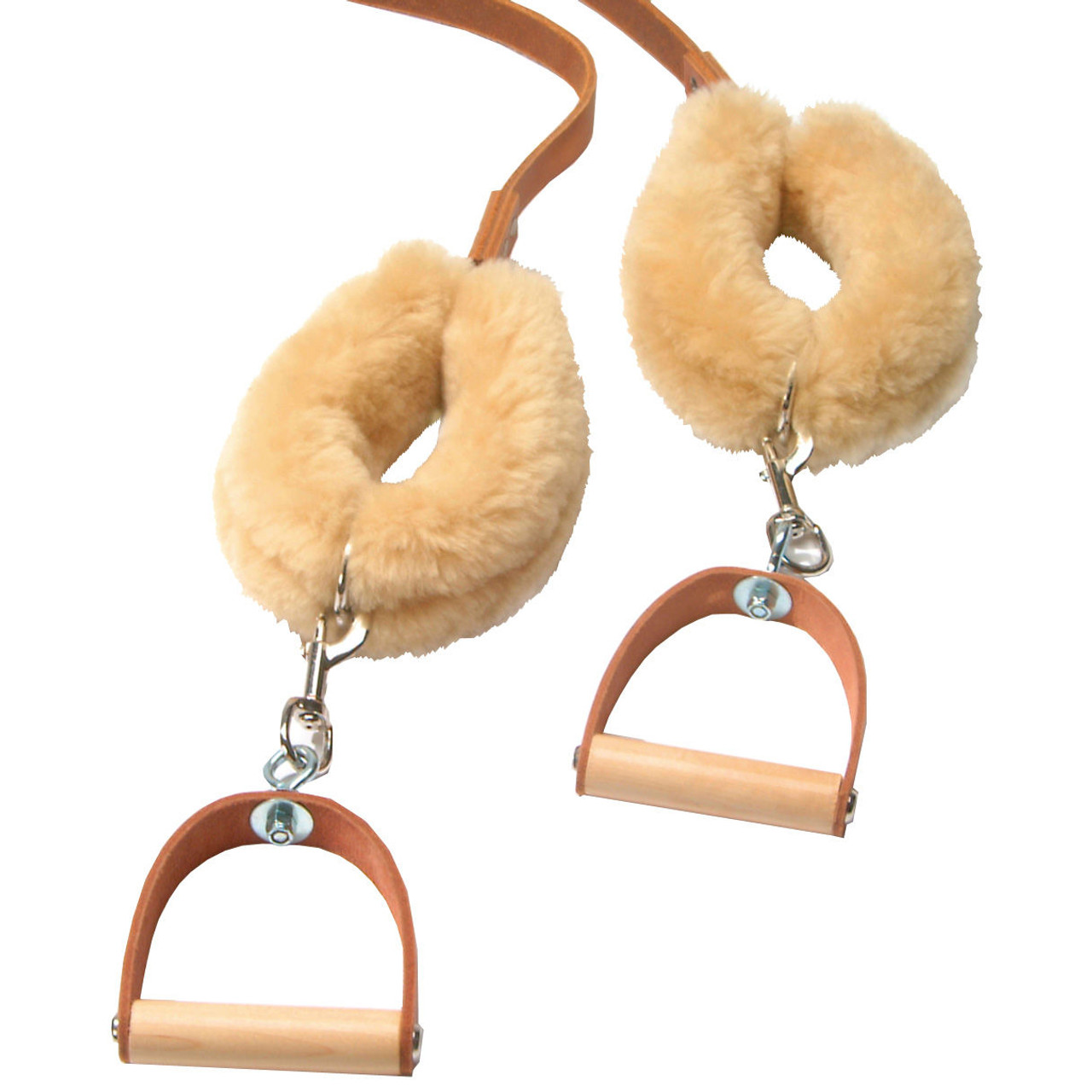 Leather Strap Covers, Sheepskin (pair)