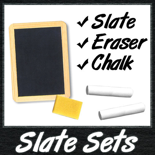 Real Slate Chalkboard Sets - 4x6 to 7x10 boards with chalk and eraser