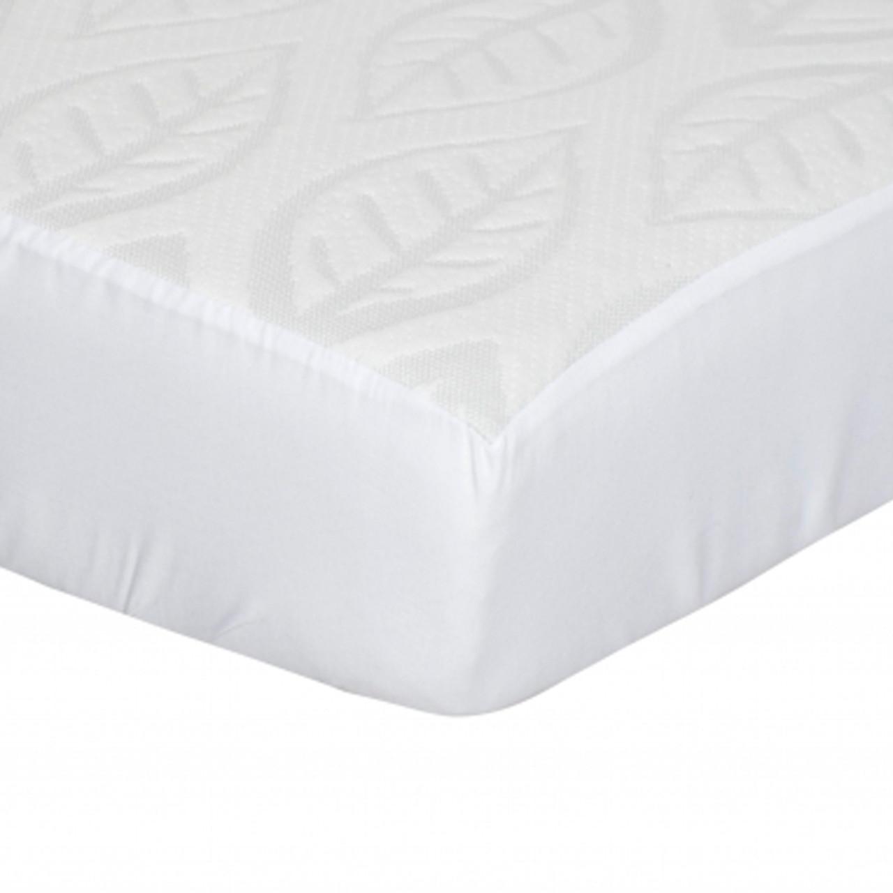 Kidicomfort Tencel Fitted Crib Mattress Cover Leaf Design Dear