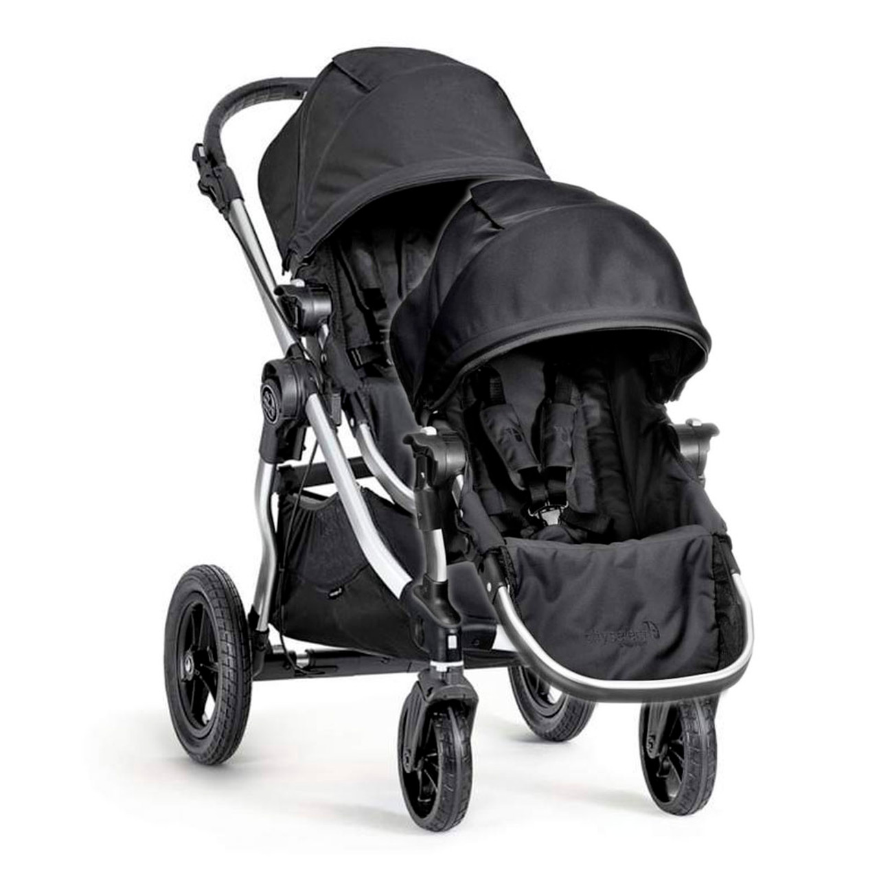 Baby Jogger City Select Silver Frame Stroller And Second Seat Combo