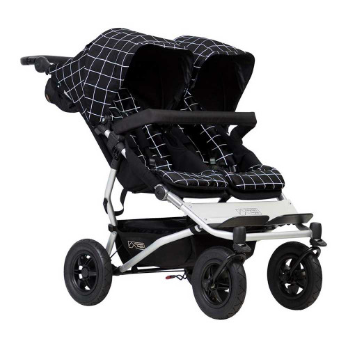 Mountain Buggy Duet 2017 Double Stroller - Grid