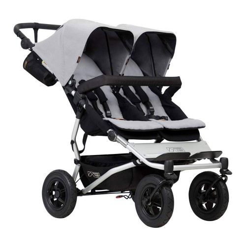Mountain Buggy Duet 2017 Double Stroller - Silver