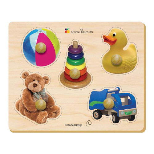EduShape Large Knob Wooden Puzzle - Toys