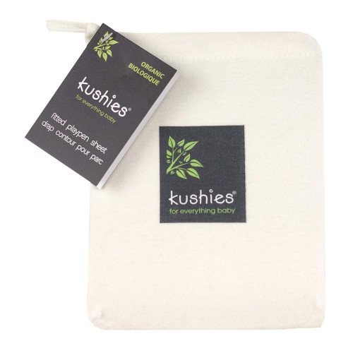 Kushies Organic Jersey Playpen Fitted Sheet - Ivory