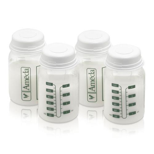 Ameda Breast Milk Storage Bottles 4-Pack