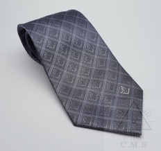 Grey Tie  with S & C  Design