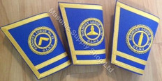 Lodge Officer Gauntlets/Cuffs with Emblem  Royal Blue