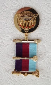 Royal Arch Past Z  Breast Jewel  Tri-Coloured Ribbon
