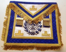 Royal Blue PM Apron  with  Fringe & Lodge Badge