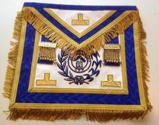 Royal Blue PM Apron  with  Fringe & Lodge Badge