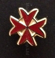 Lapel pin Red Maltese Cross