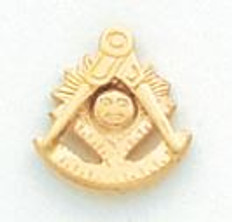 Gold Past Grand Master Lapel Pin  HOM5117T