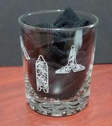 Engraved Whisky Tumbler with Masonic Symbols    GLA-WS4