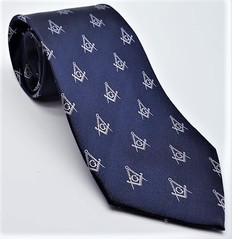 Dark Blue Masonic Tie